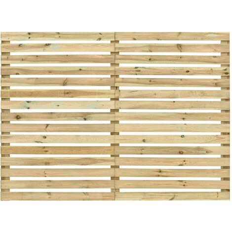 vidaXL Panel de valla de jardín madera de pino impregnada 180x180 cm - Marrón