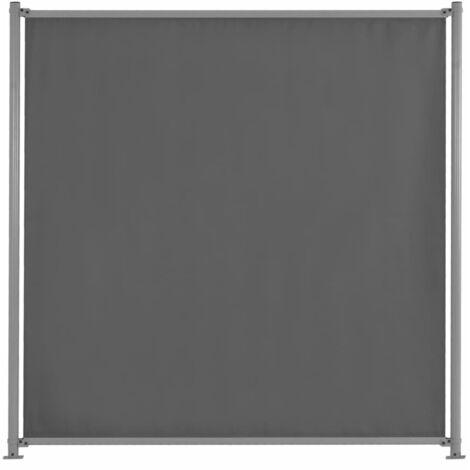 vidaXL Panel de Valla Jardín Exterior Terraza Patio Aire Libre de Tela Diferentes Dimensiones 2/3/4/5 Unidades/con 2 Postes Gris Antracita/Gris Topo