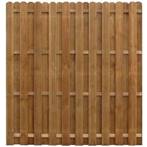 vidaXL Panel de valla madera de pino impregnada SFC 170x170 cm