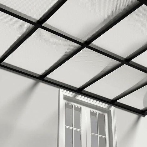 vidaXL Paneles de policarbonato 2 unidades 4 mm 113x60,5 cm