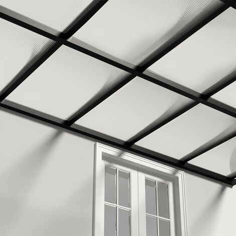 vidaXL Paneles de policarbonato 4 unidades 6 mm 113x60,5 cm