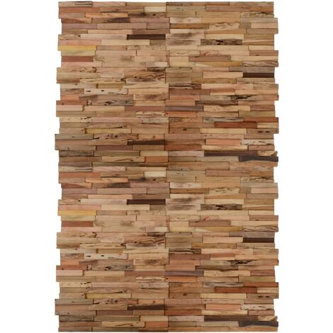 vidaXL Paneles de revestimiento de pared 20 uds teca reciclada 2 m² - Marrón