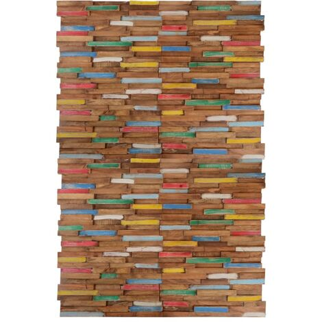 vidaXL Paneles de revestimiento de pared 20 unidades teca 2 m² - Multicolor