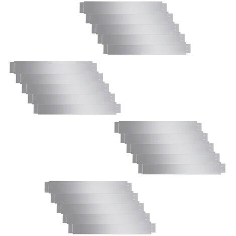 vidaXL Paneles divisorios flexibles acero 10 uds galvanizado 100x15 cm - Plateado