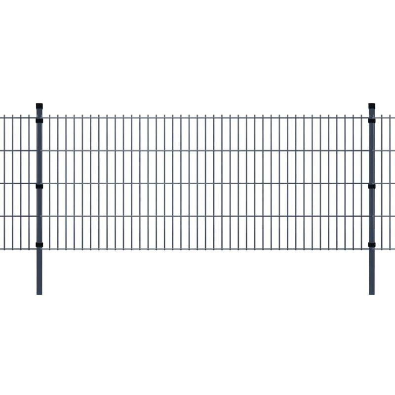 Panneaux et poteaux de clôture 2D pour jardin 2008x1030 mm 10 m