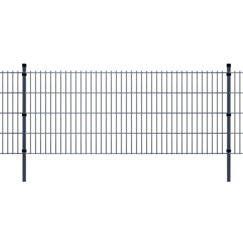 Panneaux et poteaux de clôture 2D pour jardin 2008x1630 mm 10 m