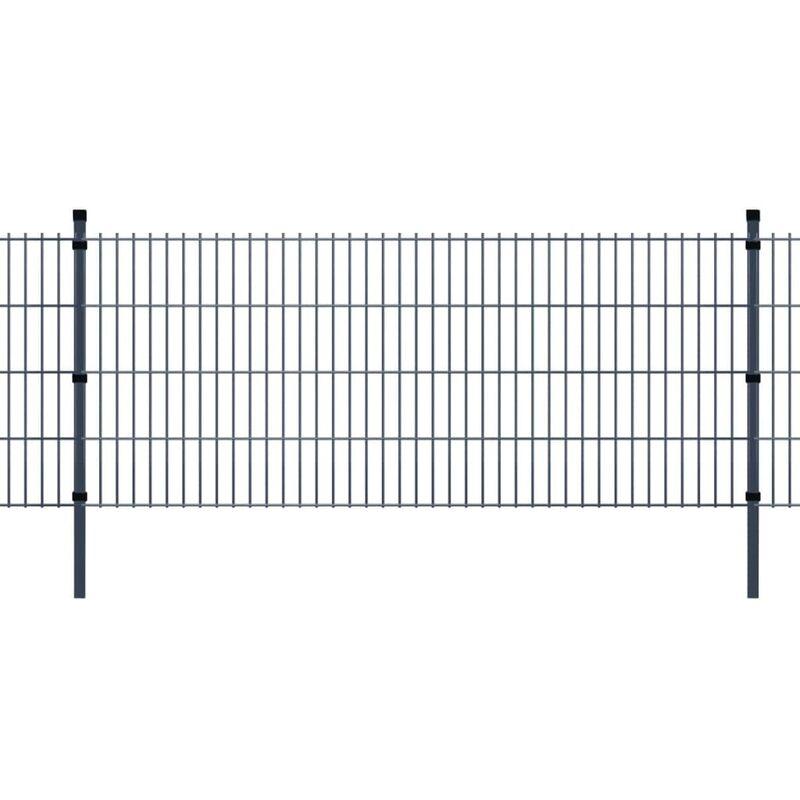 Panneaux et poteaux de clôture 2D pour jardin 2008x1830 mm 10 m