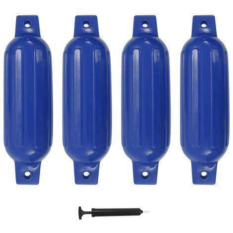 vidaXL Parachoques de barco 4 piezas PVC azul 41x11,5 cm