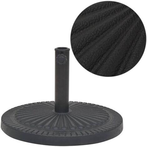 vidaXL Parasol Base Resin Round Black Outdoor Umbrella Holder Stand 14kg/29kg