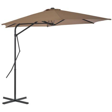 vidaXL Parasol d'Extérieur avec Mât en Acier Parasol de Jardin Moderne Pare-soleil de Terrasse Meubles de Patio Parasol de Plage Multicolore
