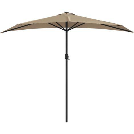 vidaXL Parasol d'Extérieur avec Mât en Aluminium Parasol de Jardin Protection Solaire Moderne deTerrasse Patio Dimensions Diverses Multicolore