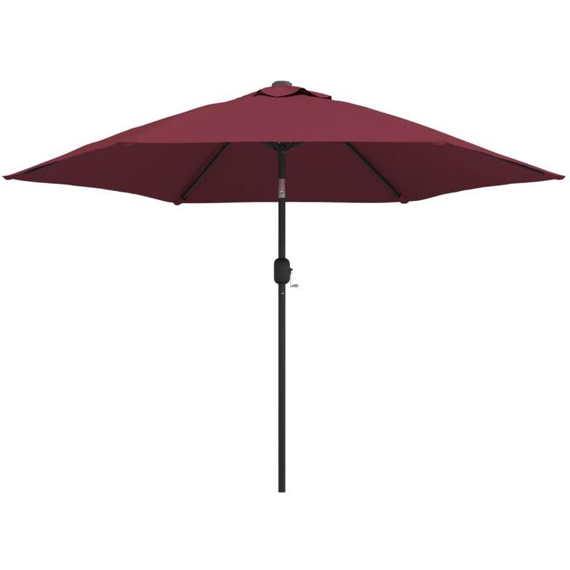 Parasol d'extérieur avec mât métallique Bordeaux 300 cm