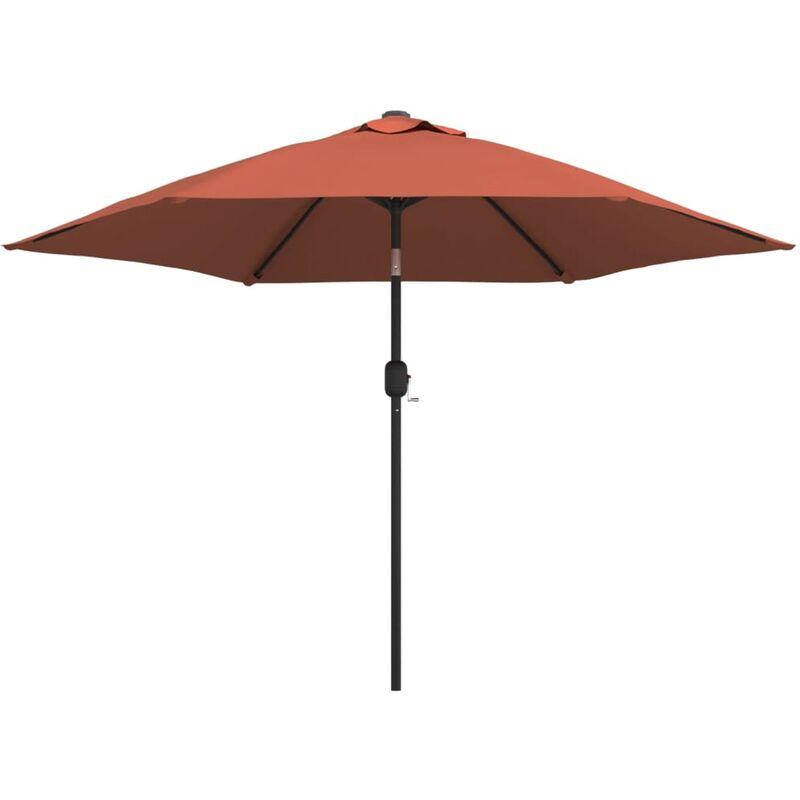 Parasol d'extérieur avec mât métallique Terre cuite 300 cm