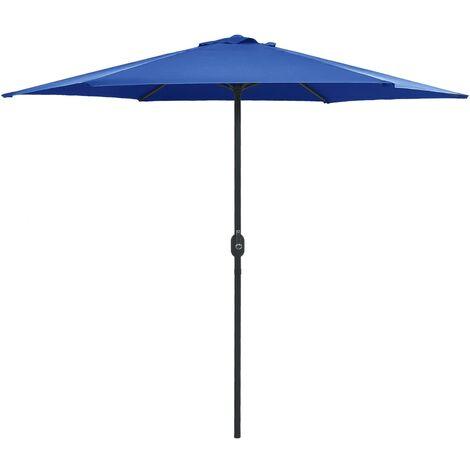 vidaXL Parasol d'Extérieur et Mât en Aluminium Pare-soleil Parasol de Jardin Patio Terrasse Extérieur Anti-UV Anti-décoloration Multicolore