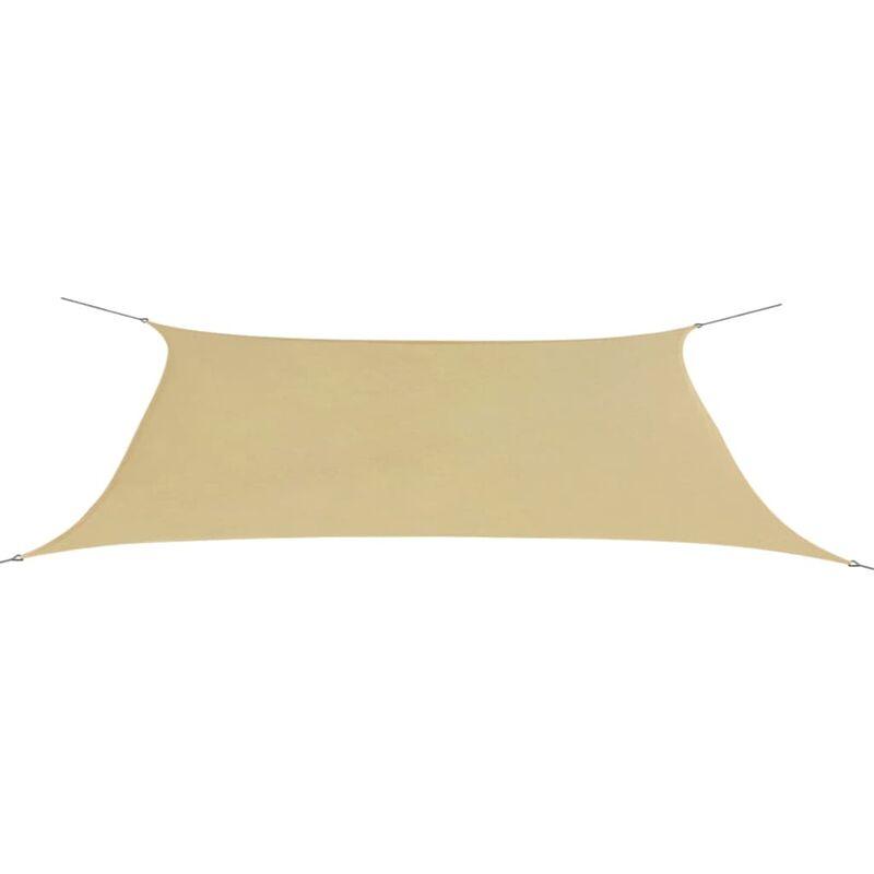 Parasol en tissu Oxford rectangulaire beige 4x6 m