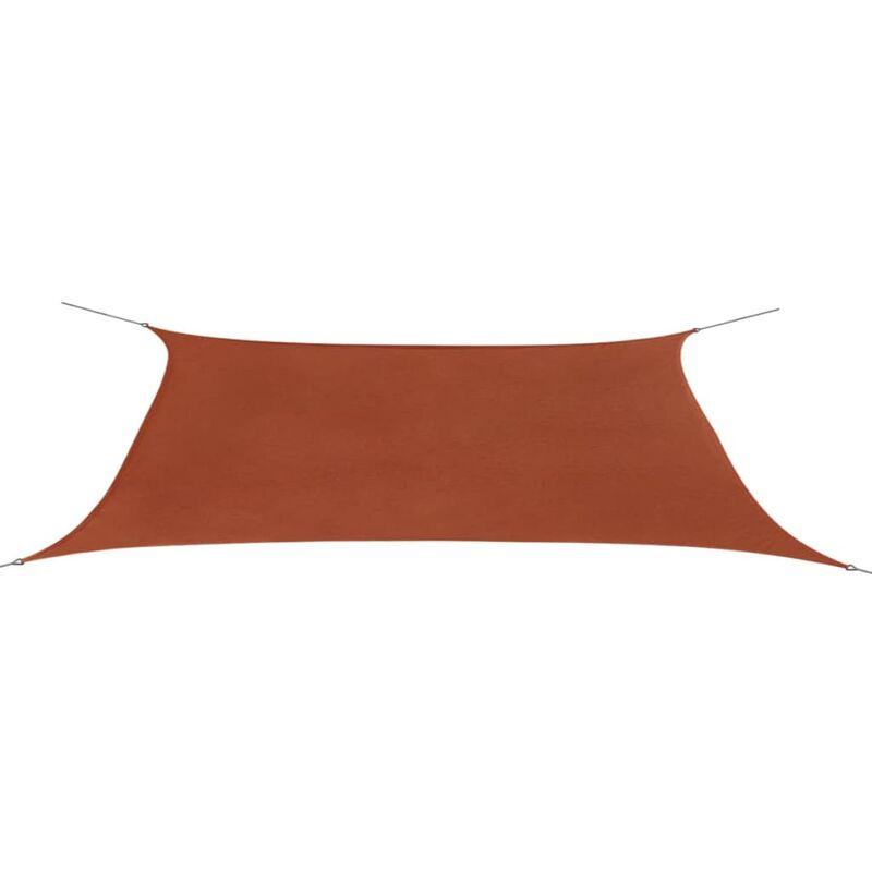 Parasol en tissu Oxford rectangulaire terracotta 4x6 m
