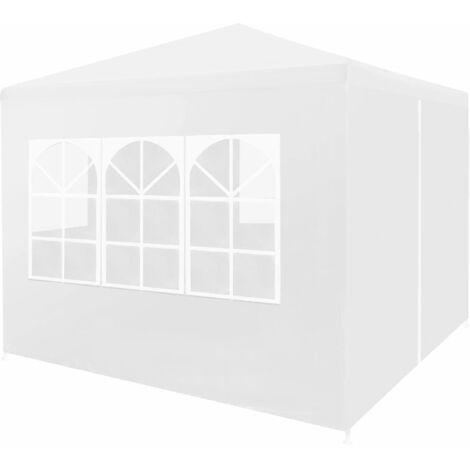 vidaXL Party Tent 3x3 m White - White