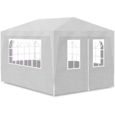 vidaXL Party Tent 3x4 m White - White
