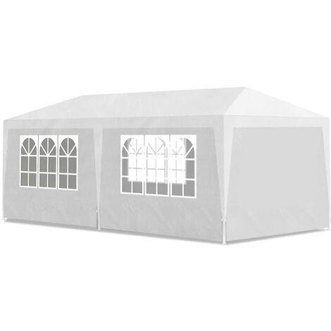 vidaXL Party Tent 3x6 m White - White