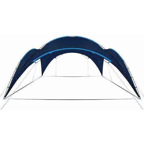 vidaXL Party Tent Arch Garden Canopy Shelter Sunshade Light Blue/Dark Blue