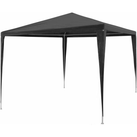 vidaXL Party Tent PE 3x3 m Anthracite - Anthracite
