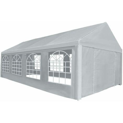 vidaXL Party Tent PE Grey Outdoor Garden Patio Lawn Outdoor Canopy Outdoor Pavilion Outdoor Marquee Gazebo Camp Convenient Multi Sizes