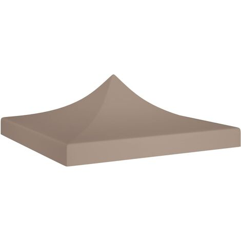 vidaXL Party Tent Roof 3x3 m Taupe 270 g/m² - Taupe