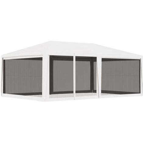 """main image of """"vidaXL Party Tent with 4 Mesh Sidewalls 4x6 m White - White"""""""