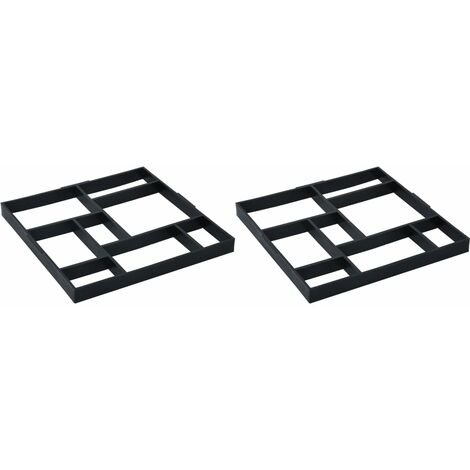 vidaXL Pavement Moulds 2 pcs 50.4x50.4x4.3 cm Plastic