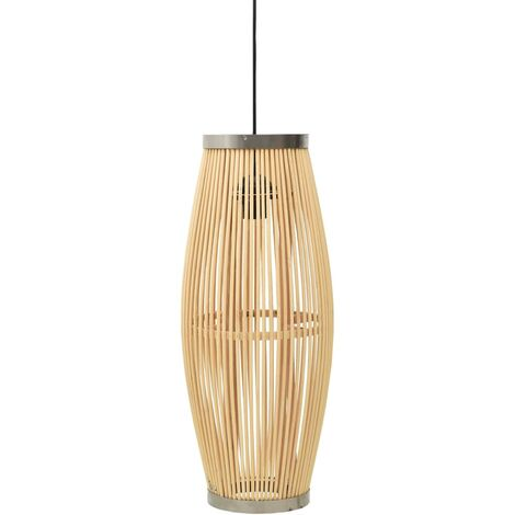 vidaXL Pendant Lamp Willow 40 W 23x55 cm Oval E27 - Brown
