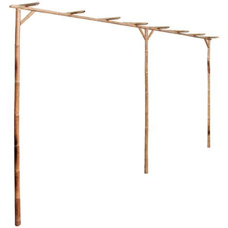 vidaXL Pergola Bamboo 385x40x205 cm - Brown