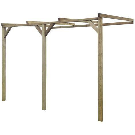 vidaXL Pérgola cobertizo de madera 2x3x2,2 m - Marrón