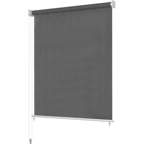 "main image of ""vidaXL Persiana enrollable de exterior 160x230 cm gris antracita - Antracita"""