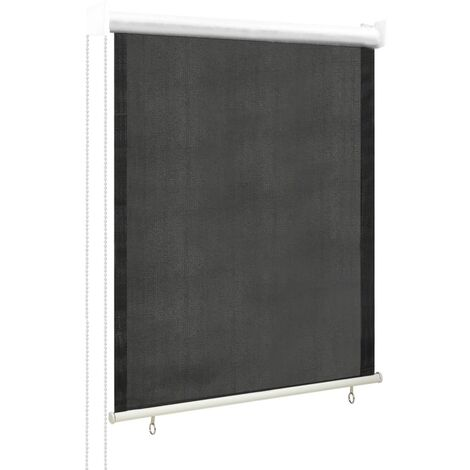 vidaXL Persiana enrollable de exterior 60x140 cm gris antracita - Antracita