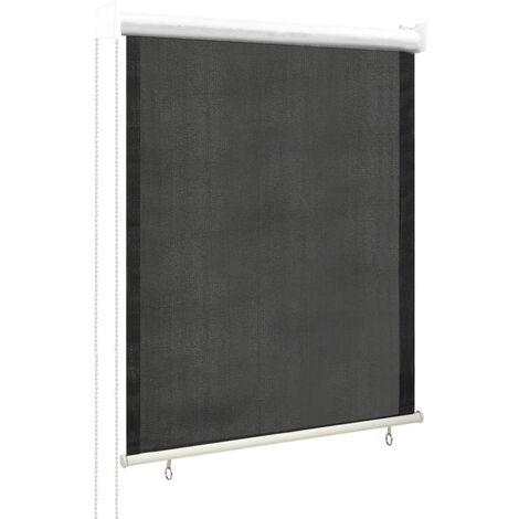 vidaXL Persiana enrollable de exterior 80x140 cm gris antracita - Antracita