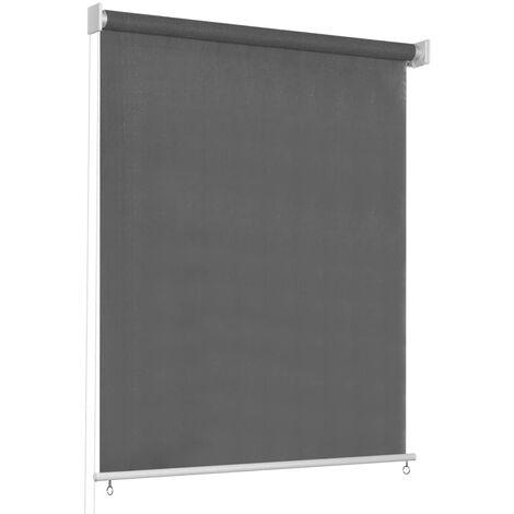 vidaXL Persiana enrollable de exterior 80x230 cm gris antracita - Antracita
