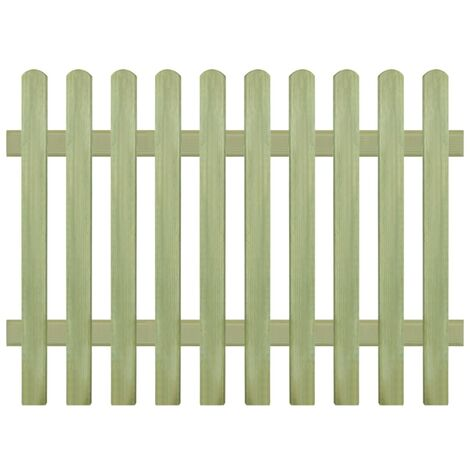 vidaXL Picket Fence FSC Impregnated Pinewood Barrier Palisade Multi Sizes