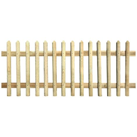 vidaXL Picket Fence FSC Impregnated Pinewood Lawn Panel Barrier Multi Sizes
