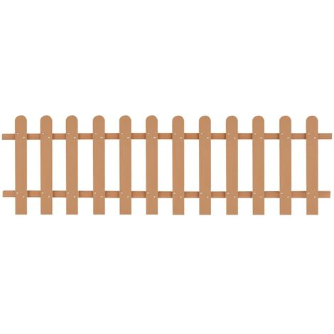 vidaXL Picket Fence Outdoor Garden Patio Backyard Weather-Resistant Maintenance-Free Fencing Decorative Barrier Panel WPC Multi Sizes