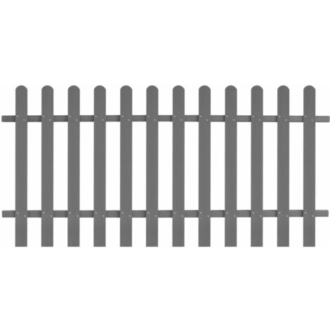 """main image of """"vidaXL Picket Fence Outdoor Garden Patio Backyard Weather-Resistant Maintenance-Free Fencing Decorative Barrier Panel WPC Multi Sizes"""""""