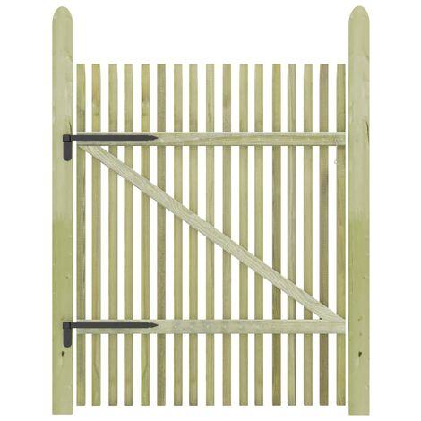 vidaXL Picket Garden Gate Impregnated Pinewood 100x150 cm - Brown