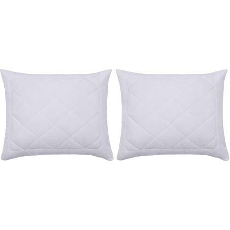 "main image of ""vidaXL Pillow Protectors 2 pcs 60x70 cm White - White"""