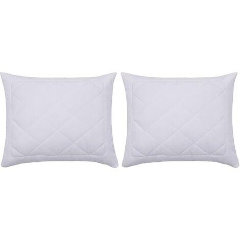 "main image of ""vidaXL Pillow Protectors 2 pcs 80x80 cm White - White"""