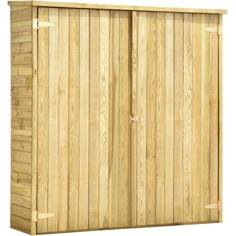 vidaXL Pinède Imprégnée Abri à Outils de Jardin Cabane à Outils Remise à Outils Abris de Stockage Outils de Jardinage Garage Cour Dimensions Diverses