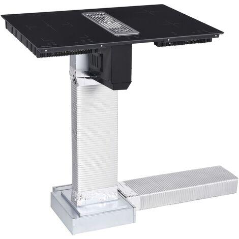 vidaXL Placa de inducción Flexizone con mesa de tiro descendente 78 cm - Negro