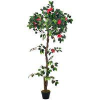 vidaXL Planta artificial camelia con macetero 160 cm verde (no se puede enviar a Baleares)