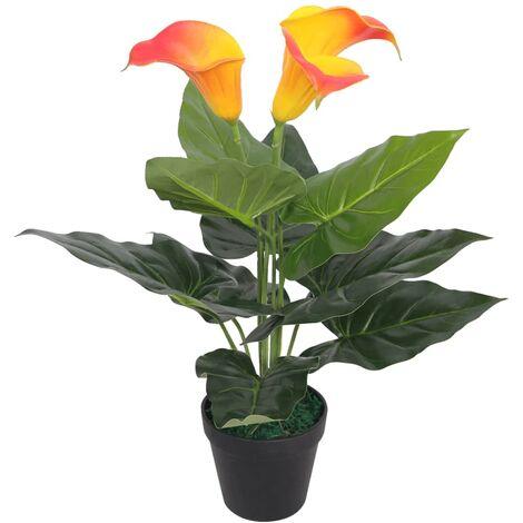 vidaXL Planta Artificial con Macetero Decoración Comedor Oficina Salón Sala de Estar Restaurante Multicolor Diferentes Tipos Diferentes Alturas