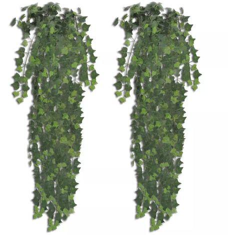 vidaXL Planta artificial hiedra 90 cm 2 unidades