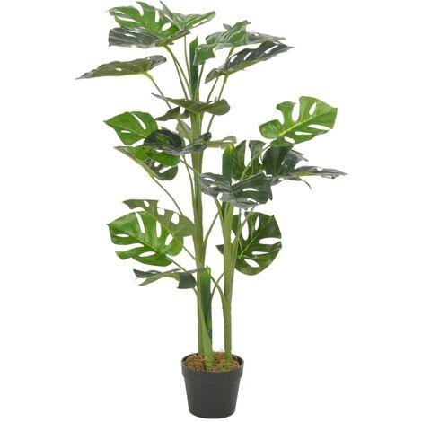 vidaXL Planta artificial monstera con maceta 100 cm verde - Verde