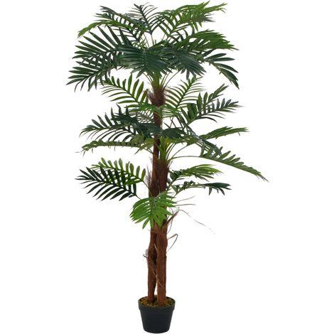 vidaXL Planta artificial palmera con macetero 165 cm verde